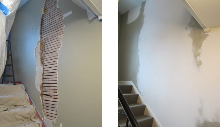 stairs wall repair