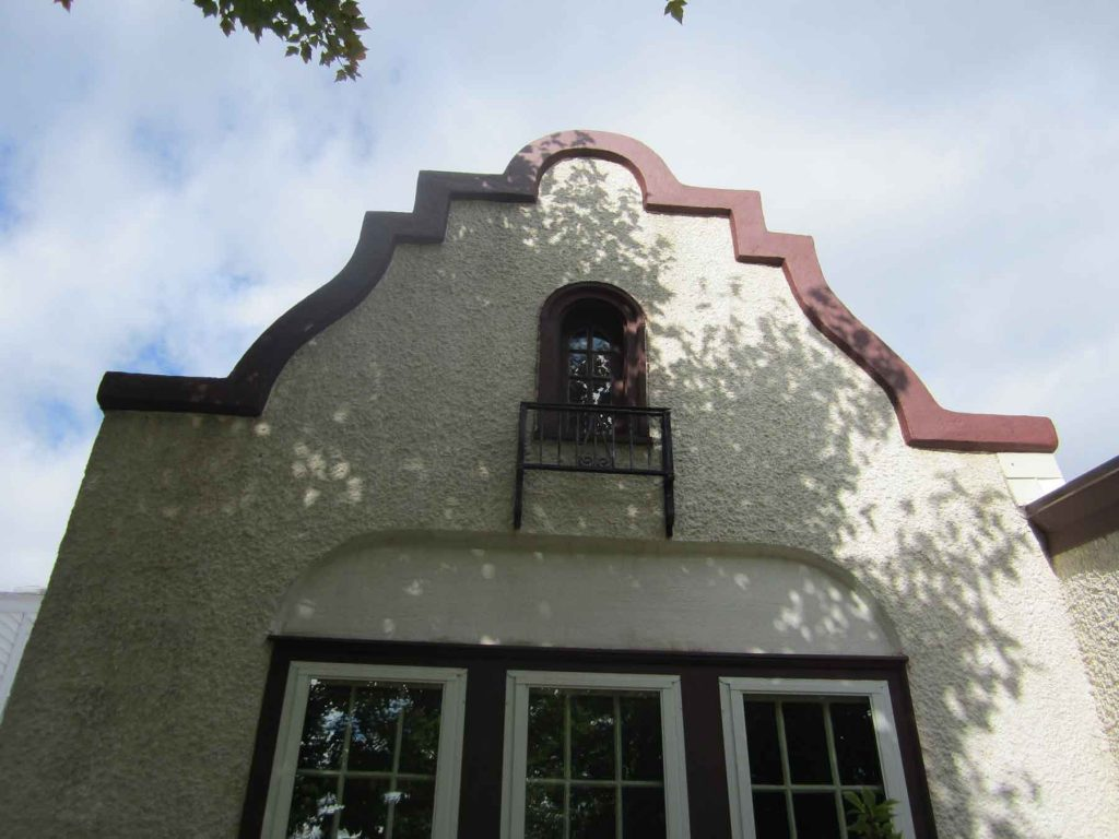 Stucco restoration after image