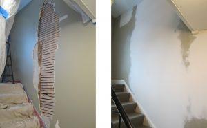 stairs wall repair