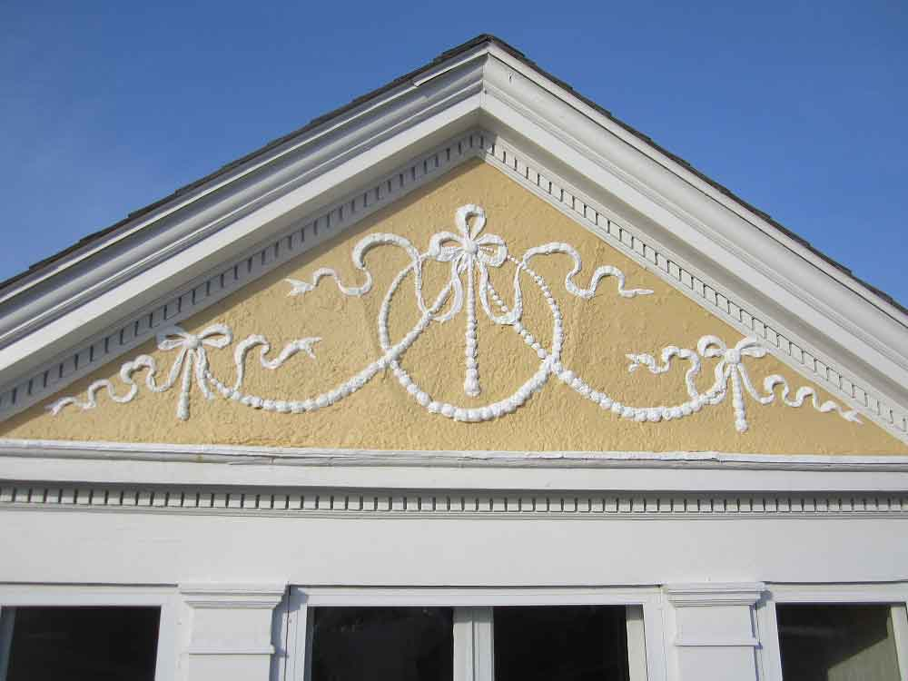 Stucco design on home