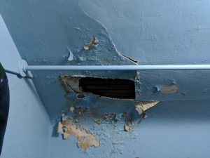 hole in plaster ceiling