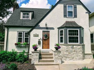 home with updated stone veneer